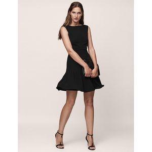 NWT Reiss Marisa Black Pin Tuck Dress